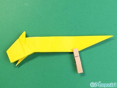 折り紙で立体的な虎の折り方手順52