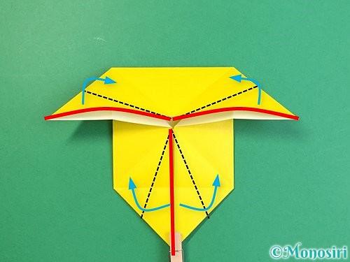 折り紙で立体的な虎の折り方手順72