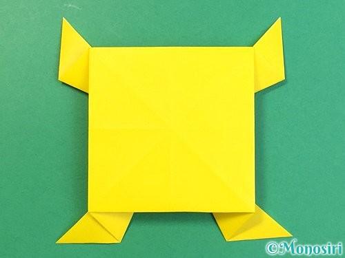 折り紙で立体的な虎の折り方手順74