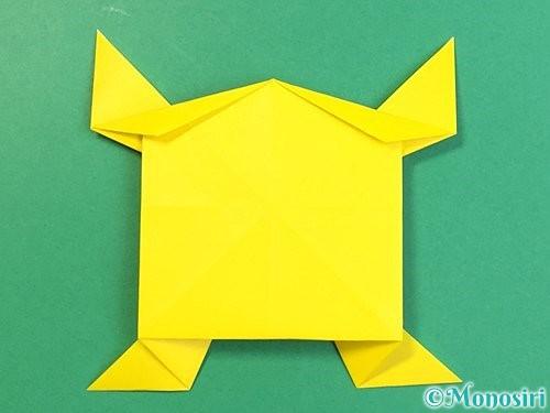 折り紙で立体的な虎の折り方手順76
