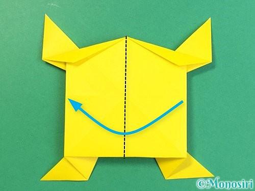 折り紙で立体的な虎の折り方手順77