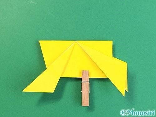 折り紙で立体的な虎の折り方手順79