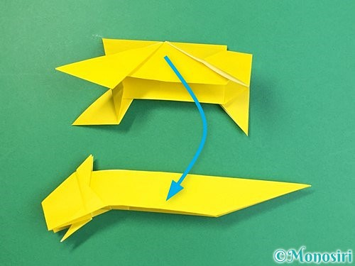 折り紙で立体的な虎の折り方手順80