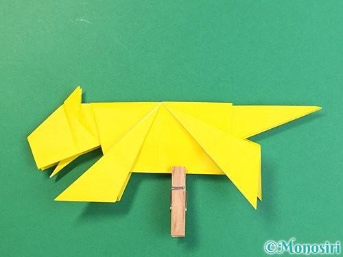 折り紙で立体的な虎の折り方手順81