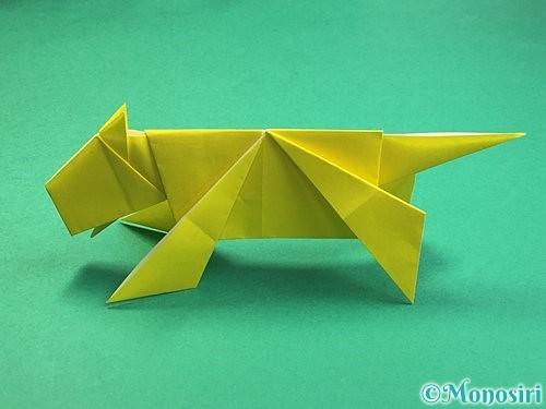 折り紙で立体的な虎の折り方手順82