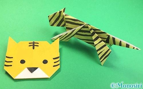 折り紙で折った虎