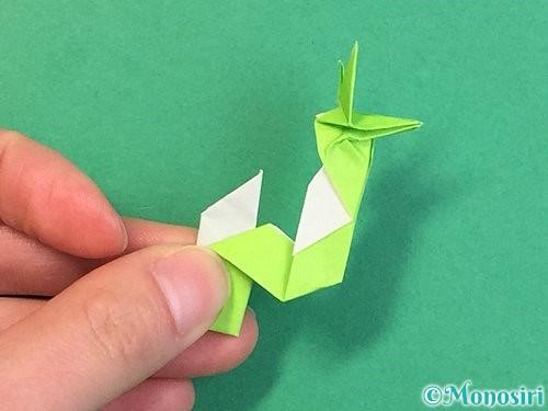 折り紙で龍の折り方手順55