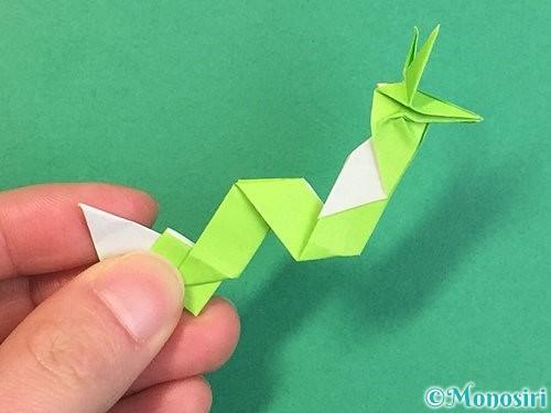 折り紙で龍の折り方手順56