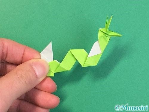 折り紙で龍の折り方手順57