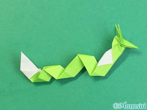 折り紙で龍の折り方手順59