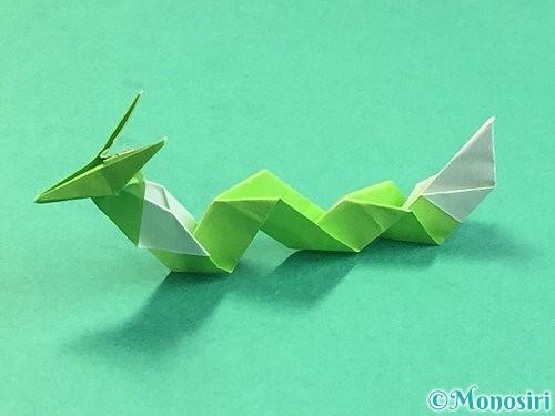 折り紙で龍の折り方手順60