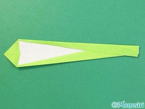 折り紙でヘビの折り方手順11