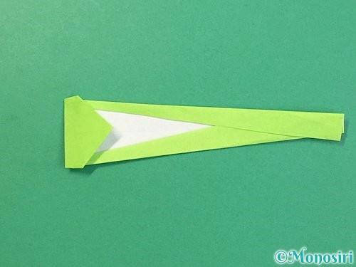 折り紙でヘビの折り方手順13
