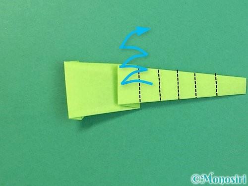 折り紙でヘビの折り方手順19