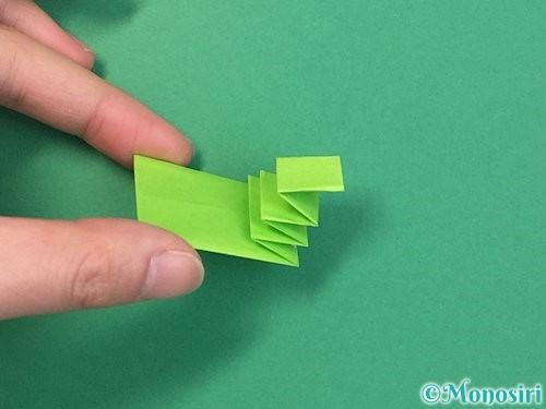 折り紙でヘビの折り方手順21