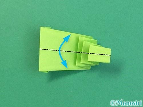 折り紙でヘビの折り方手順22