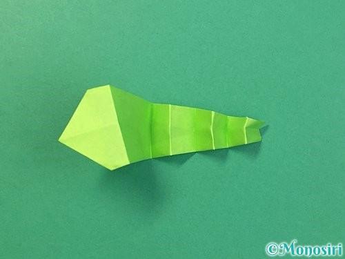 折り紙でヘビの折り方手順25