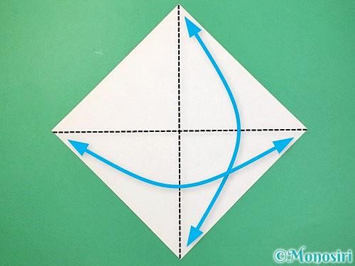 折り紙で立体的な蛇の折り方手順1