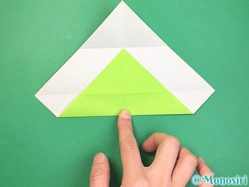 折り紙で立体的な蛇の折り方手順6