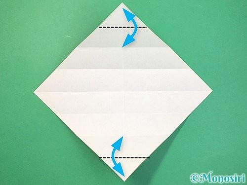 折り紙で立体的な蛇の折り方手順9