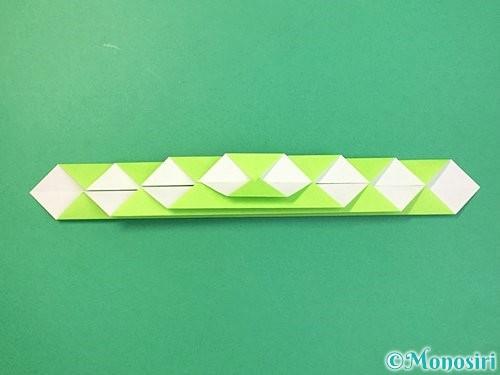 折り紙で立体的な蛇の折り方手順22