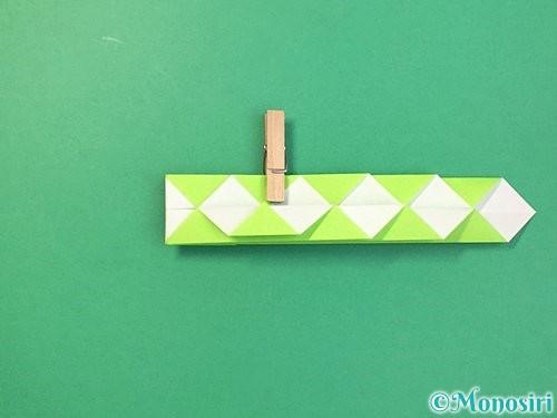 折り紙で立体的な蛇の折り方手順24
