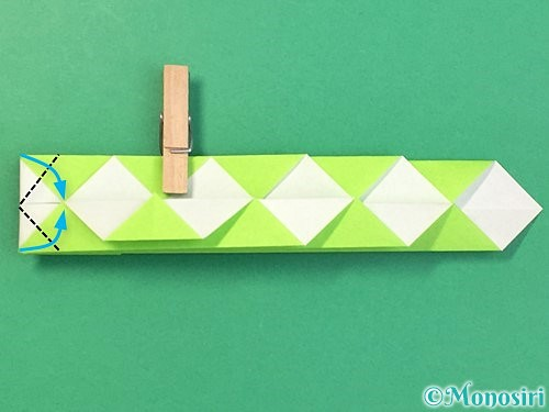 折り紙で立体的な蛇の折り方手順25