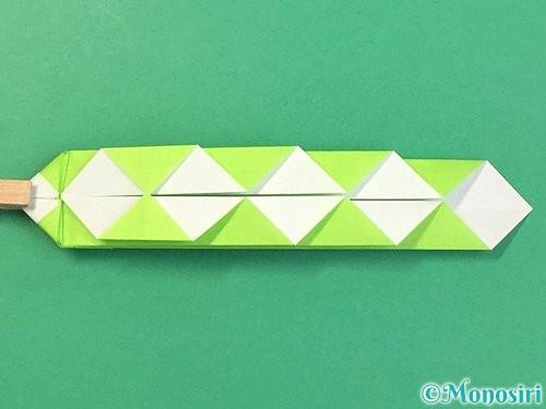 折り紙で立体的な蛇の折り方手順26