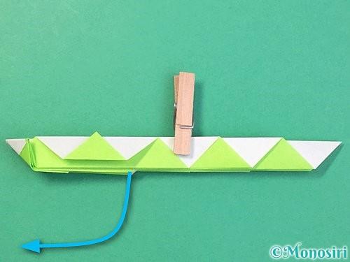 折り紙で立体的な蛇の折り方手順29