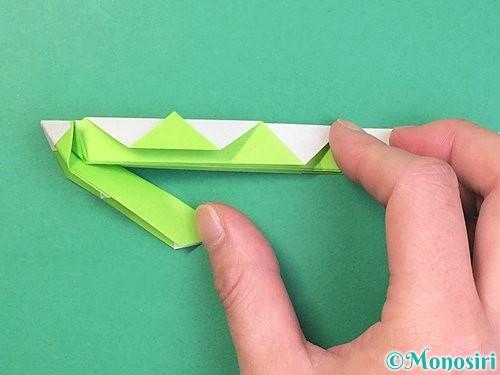 折り紙で立体的な蛇の折り方手順30