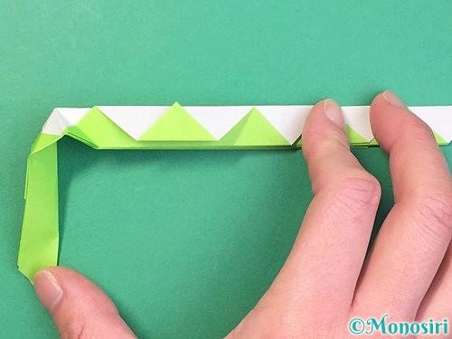 折り紙で立体的な蛇の折り方手順31