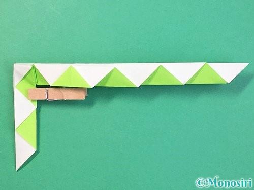 折り紙で立体的な蛇の折り方手順34