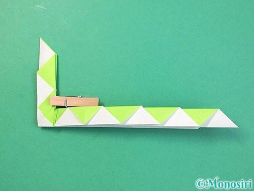 折り紙で立体的な蛇の折り方手順35