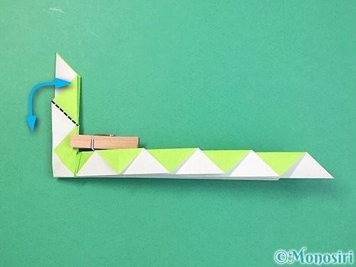折り紙で立体的な蛇の折り方手順36