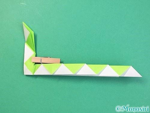 折り紙で立体的な蛇の折り方手順37