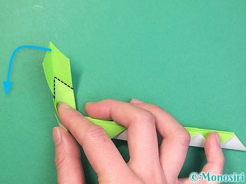 折り紙で立体的な蛇の折り方手順39