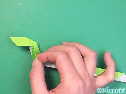 折り紙で立体的な蛇の折り方手順41