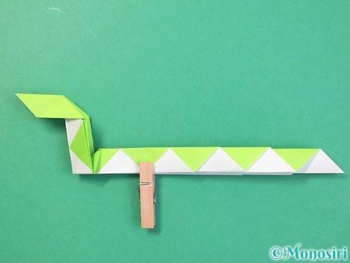 折り紙で立体的な蛇の折り方手順42