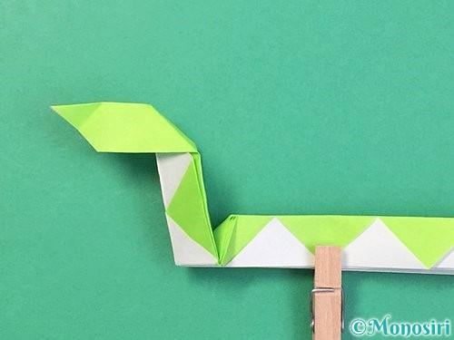 折り紙で立体的な蛇の折り方手順44