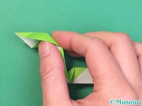 折り紙で立体的な蛇の折り方手順45