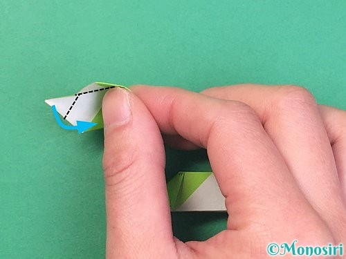折り紙で立体的な蛇の折り方手順46