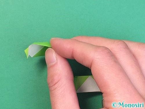 折り紙で立体的な蛇の折り方手順47