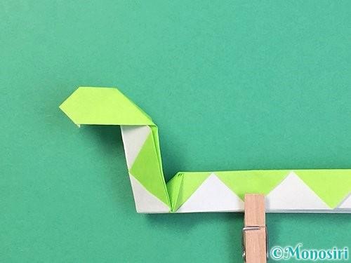 折り紙で立体的な蛇の折り方手順48