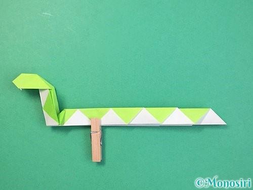 折り紙で立体的な蛇の折り方手順49