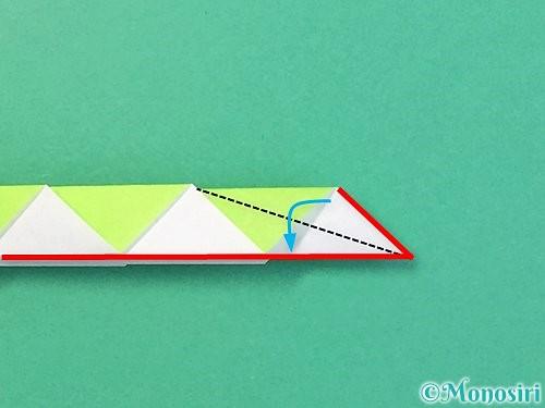 折り紙で立体的な蛇の折り方手順50