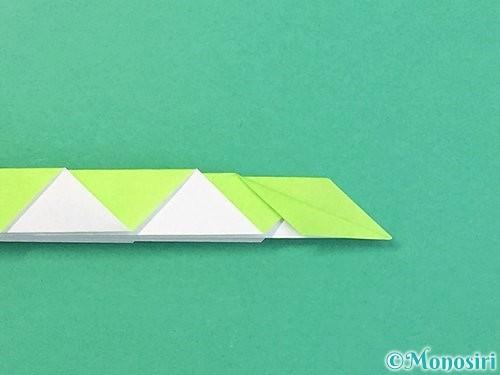折り紙で立体的な蛇の折り方手順51