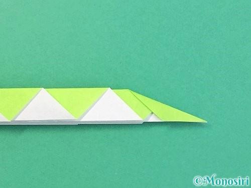 折り紙で立体的な蛇の折り方手順52
