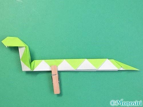 折り紙で立体的な蛇の折り方手順53