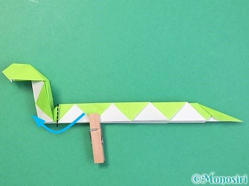 折り紙で立体的な蛇の折り方手順54