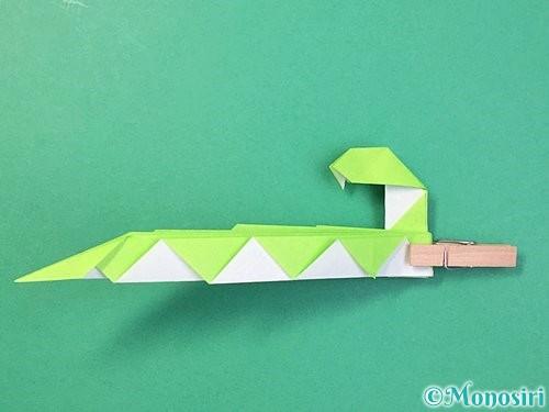 折り紙で立体的な蛇の折り方手順55